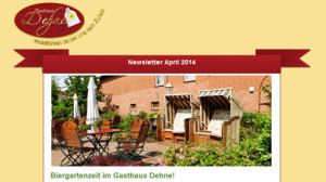 Newsletter Gasthaus Dehne